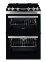 Zanussi ZCI66278XA Double Oven Electric Cooker